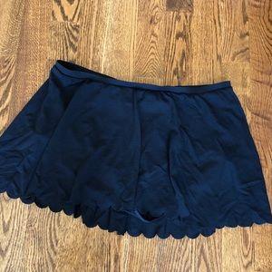 torrid Swim - Black Swim Skirt with scalloped edge, Torrid, 3X